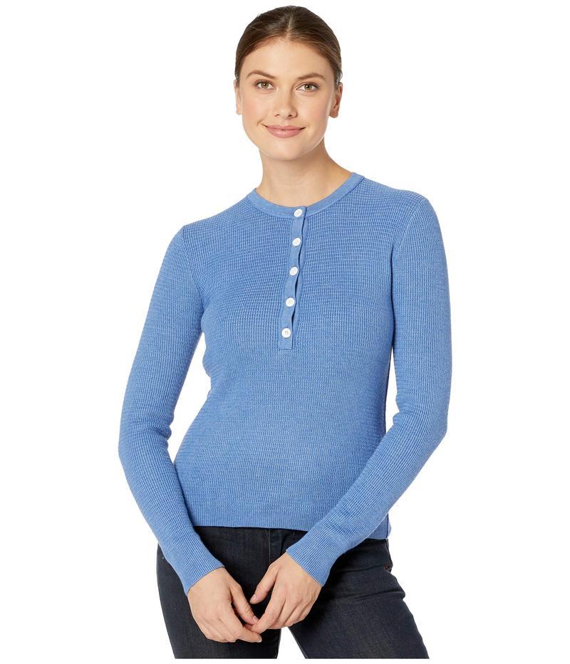 リラピー レディース ニット・セーター アウター Cotton Modal Waffle Stitch Henley Sweater Harbor