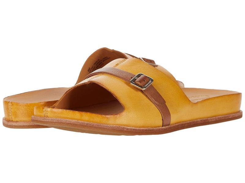 コークイーズ レディース サンダル シューズ Downey Yellow Full Grain Leather