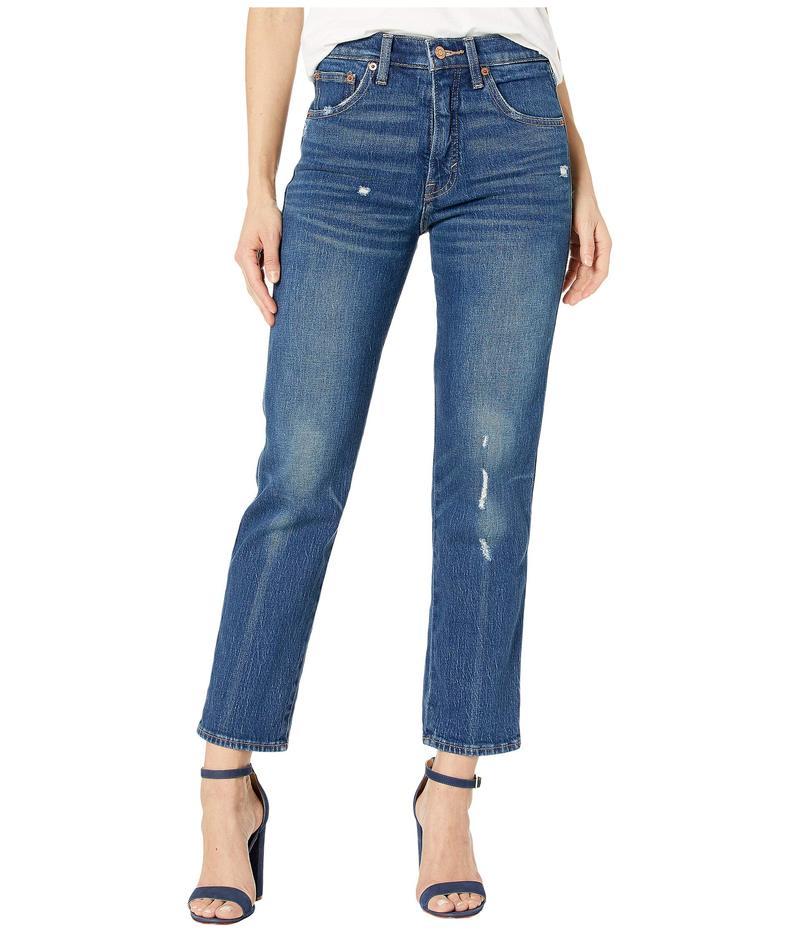 ラッキーブランド レディース デニムパンツ ボトムス Authentic Straight Crop Jeans in Broome Street Destruct Broome Street Destruct