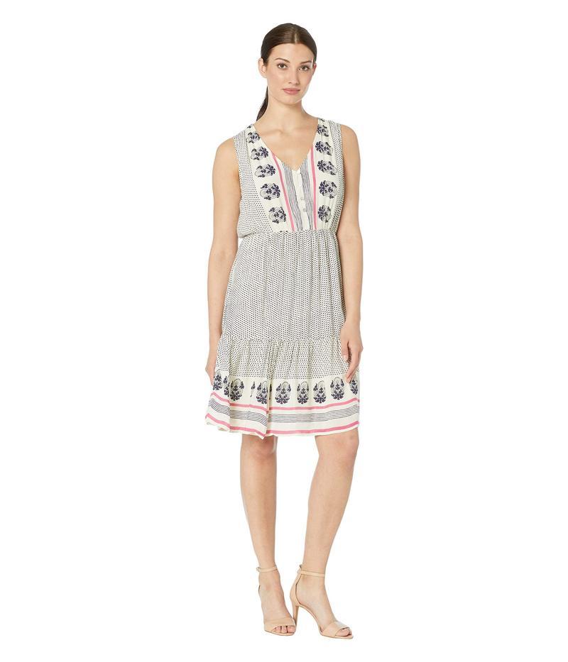 ラッキーブランド レディース ワンピース トップス Luna Border Print Dress Natural Multi