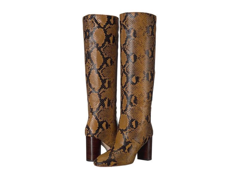 ロフラー ランダル レディース ブーツ・レインブーツ シューズ Goldy Tall Boot Amber Embossed Snake