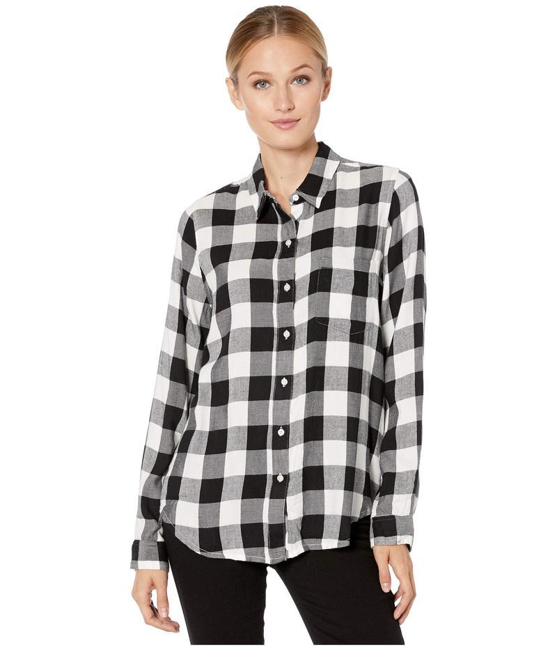 ラッキーブランド レディース シャツ トップス Classic One-Pocket Plaid Shirt Black Multi