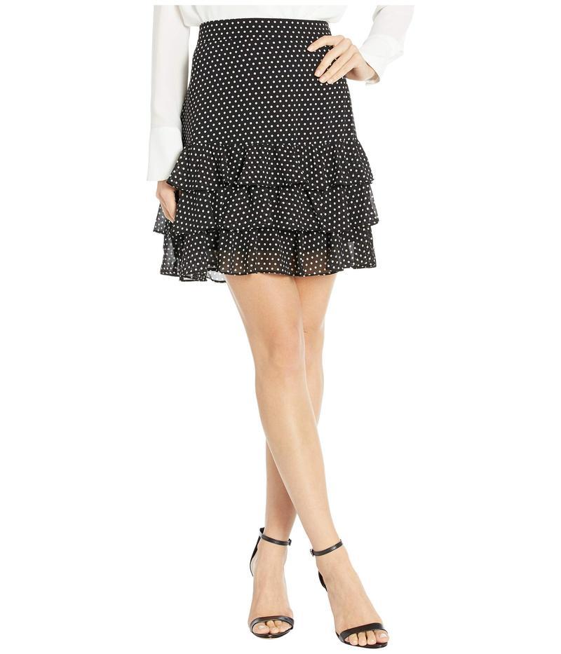 マイケルコース レディース スカート ボトムス Mini Dot Ruffle Skirt Black/Bone