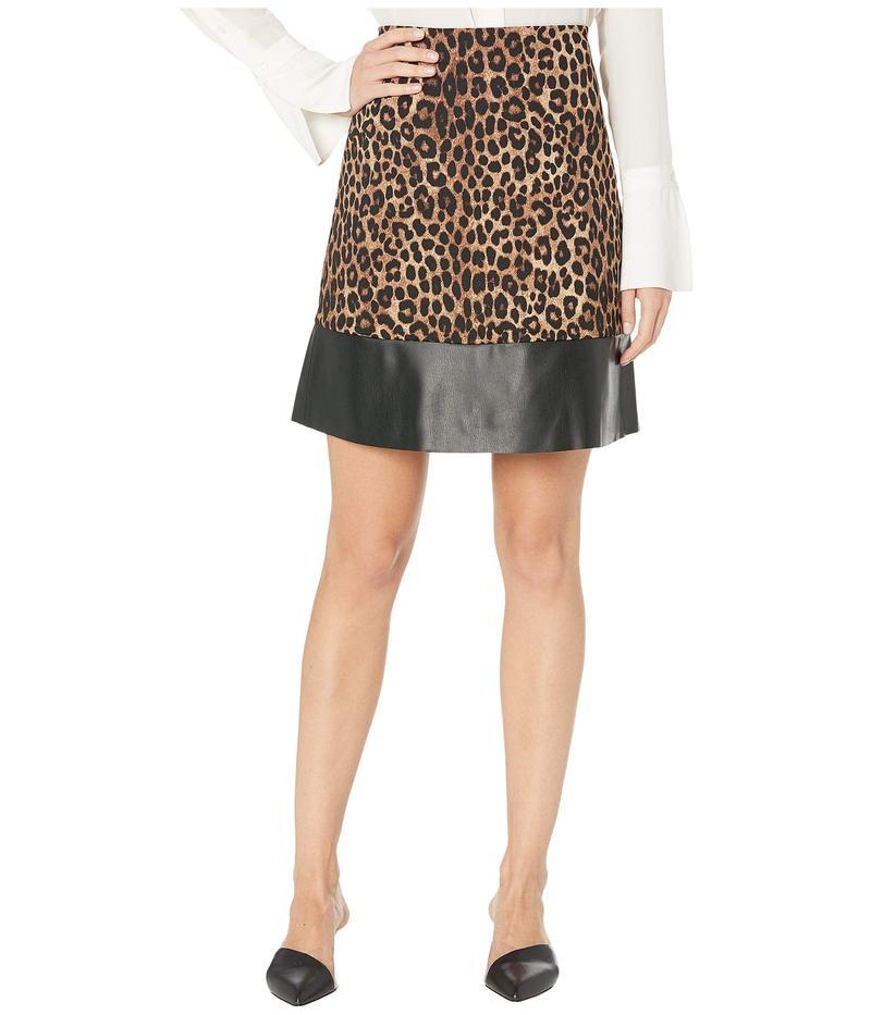 マイケルコース レディース スカート ボトムス Cheetah Leather Mini Skirt Dark Camel