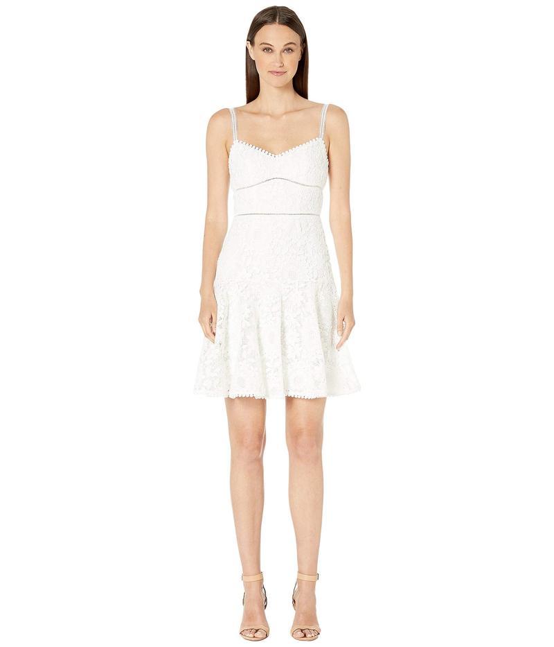モニーク ルイリエ レディース ワンピース トップス Sleeveless Lace Fit and Flare Dress Jet Ivory Combo