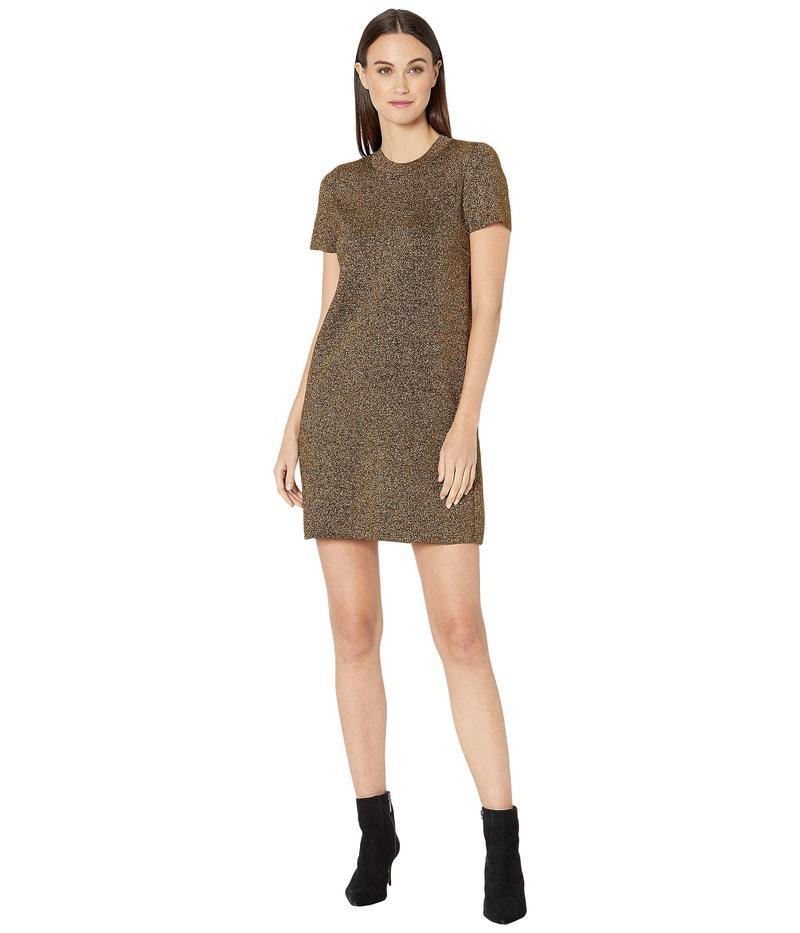 ミリー レディース ワンピース トップス Metallic Mod Dress Gold