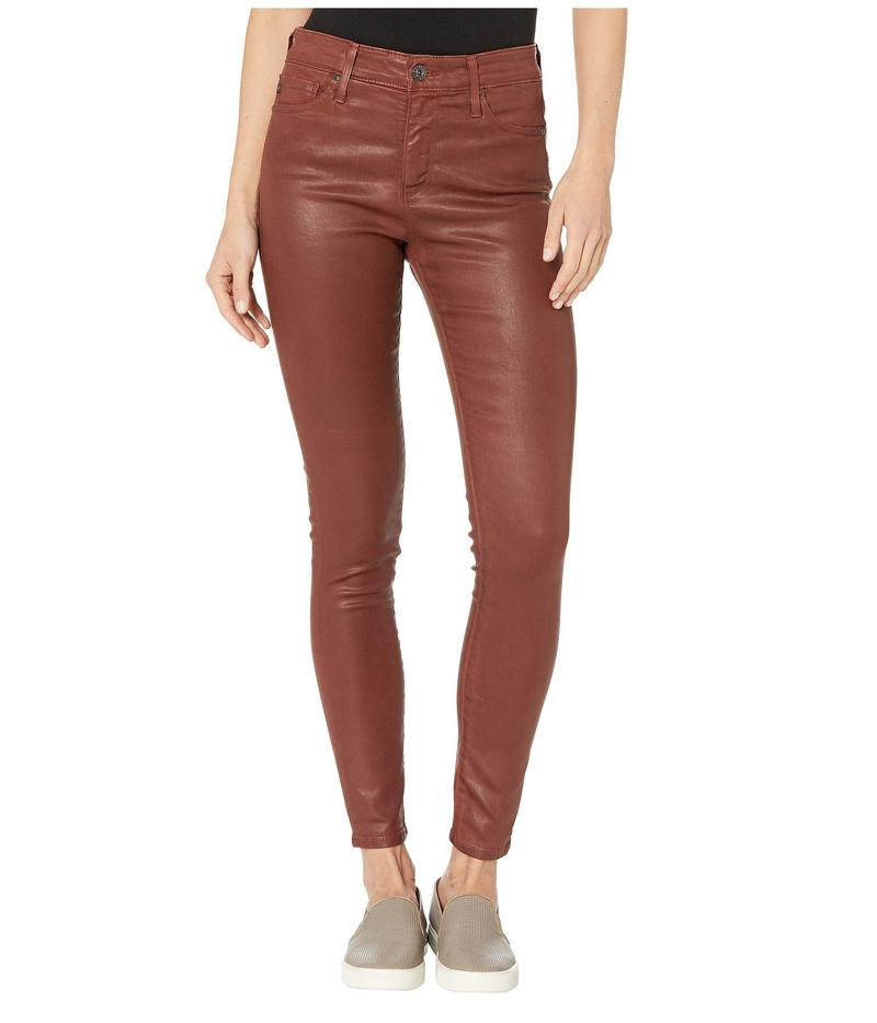 エージー アドリアーノゴールドシュミット レディース カジュアルパンツ ボトムス Farrah Skinny Ankle in Vintage Leatherette Light Rich Crimson Vintage Leatherette Light Rich Crimson