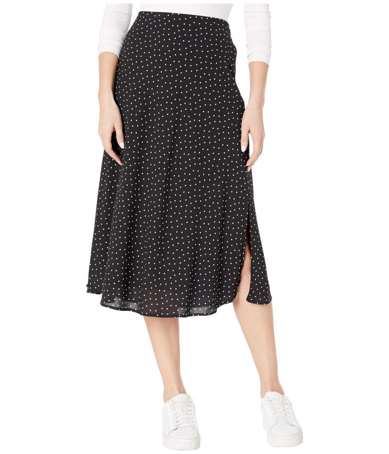 ワンステイト レディース スカート ボトムス Vintage Scatter Dot Midi Skirt Rich Black