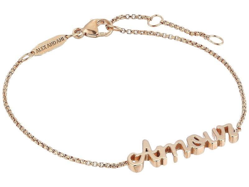 アレックスアンドアニ レディース ブレスレット・バングル・アンクレット アクセサリー Amour Adjustable Bracelet 14KT Rose Gold Plated