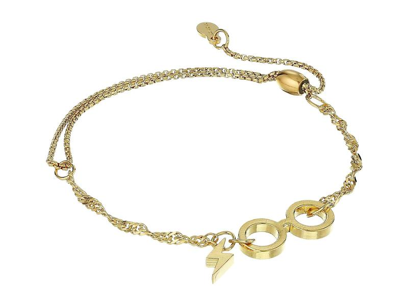 アレックスアンドアニ レディース ブレスレット・バングル・アンクレット アクセサリー 14kt Gold Plated Harry Potter Glasses Pull Chain Bracelet 14KT Gold Plated