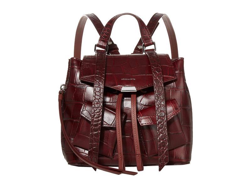 オールセインツ レディース バックパック・リュックサック バッグ Polly Mini Backpack Bordeaux
