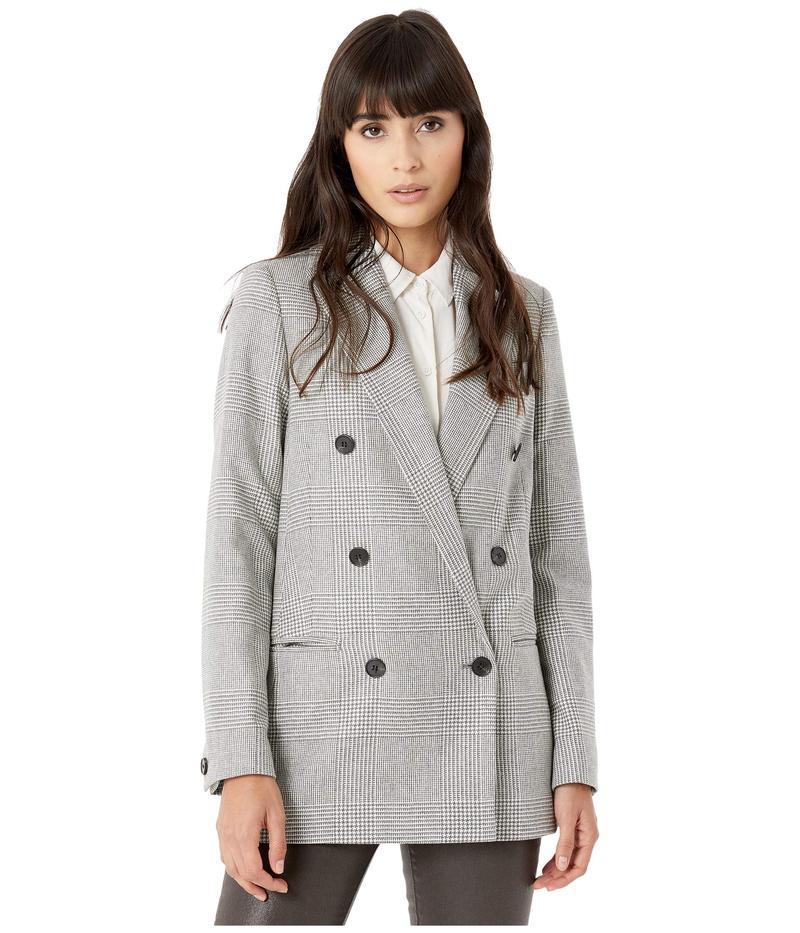 オールセインツ レディース コート アウター Astrid Check Blazer Light Grey/Ecru