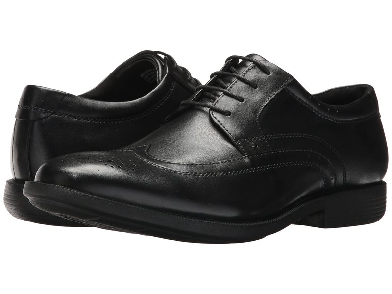 ノンブッシュ メンズ オックスフォード シューズ Decker Wingtip Oxford with KORE Walking Comfort Technology Black