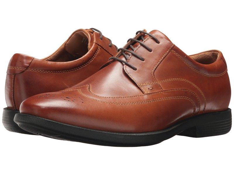 ノンブッシュ メンズ オックスフォード シューズ Decker Wingtip Oxford with KORE Walking Comfort Technology Cognac