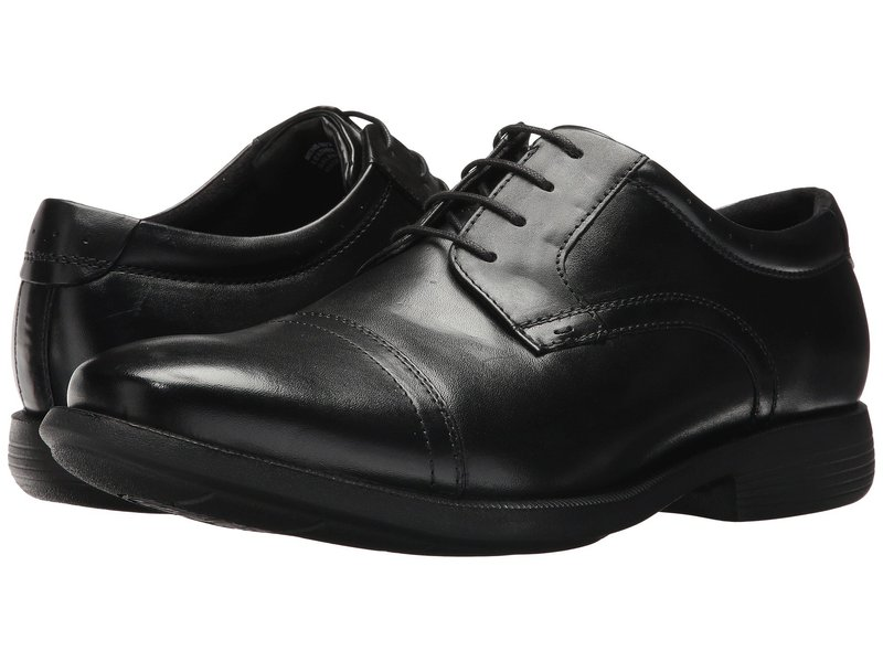 ノンブッシュ メンズ オックスフォード シューズ Dixon Cap Toe Oxford with KORE Walking Comfort Technology Black