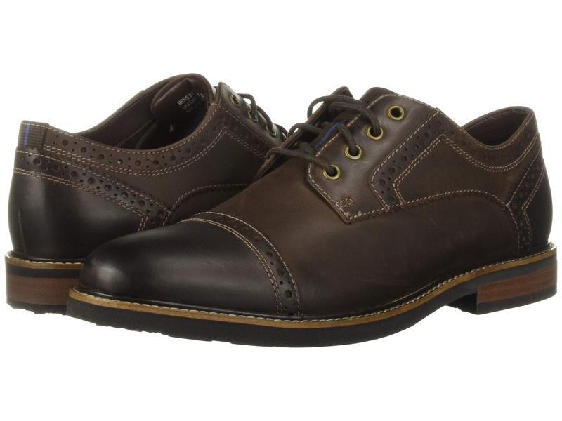 ノンブッシュ メンズ オックスフォード シューズ Overland Cap Toe Oxford with KORE Walking Comfort Technology Brown CH