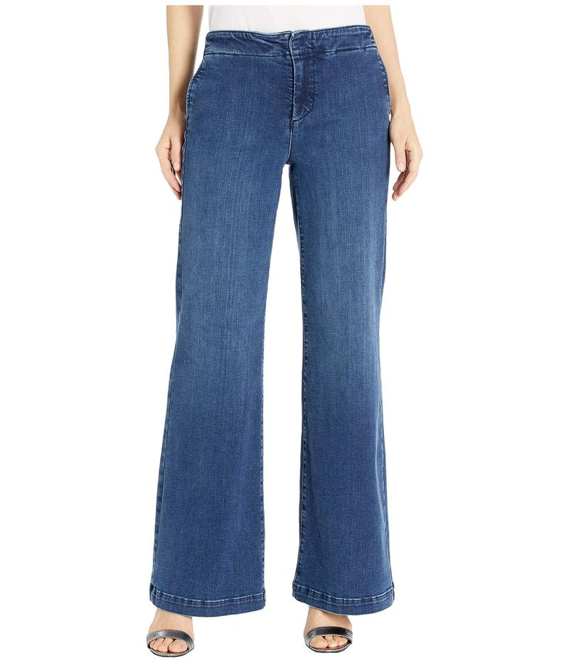 エヌワイディージェイ レディース デニムパンツ ボトムス Wide Leg Trouser Jeans with Side Seam Welt Pockets in Clean Habana Clean Habana