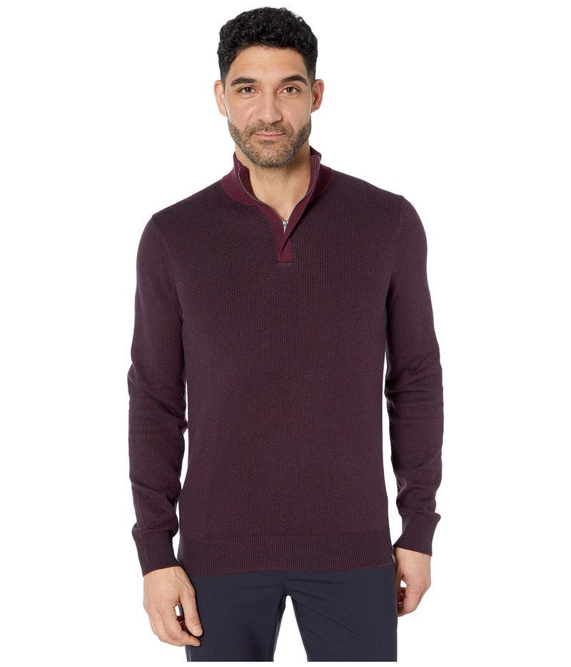 ペリーエリス メンズ ニット・セーター アウター 1/4 Zip Long Sleeve Sweater Fig
