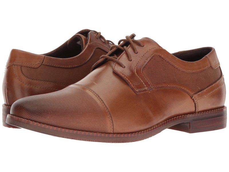 ロックポート メンズ オックスフォード シューズ Style Purpose Perf Cap Toe Cognac Leather