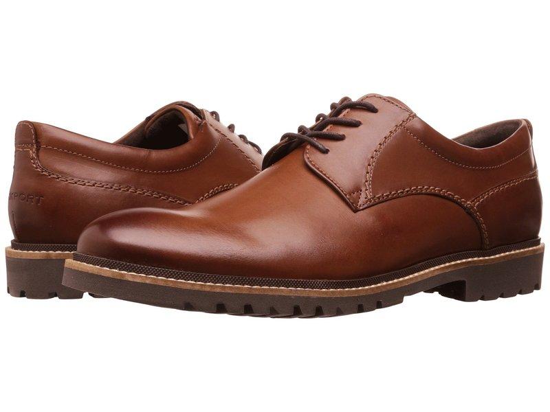 ロックポート メンズ オックスフォード シューズ Marshall Plain Toe Oxford Dark Brown