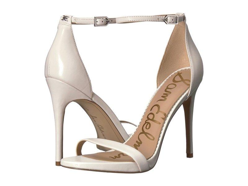サムエデルマン レディース ヒール シューズ Ariella Strappy Sandal Heel Bright White Nappa Luva Leather