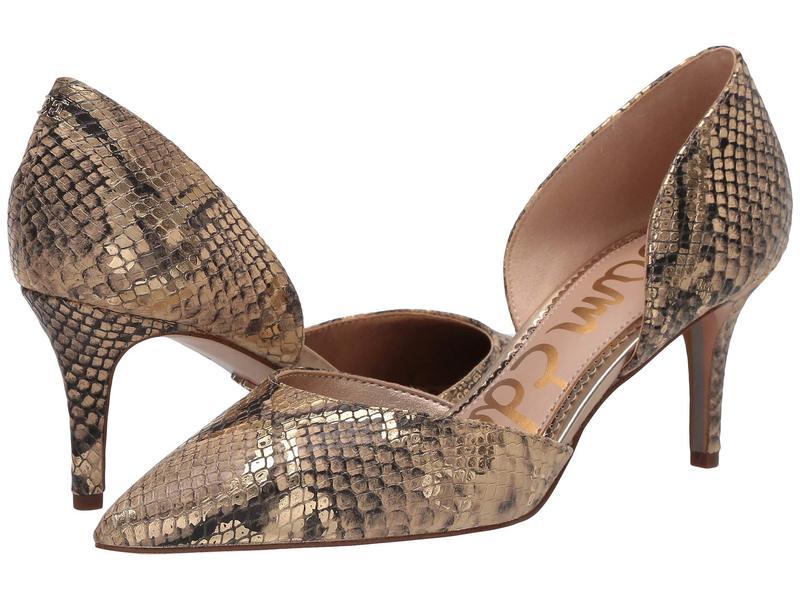 サムエデルマン レディース ヒール シューズ Jaina Natural Sand Multi Exotic Snake Print Leather