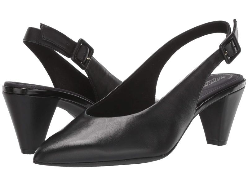 ロックポート レディース ヒール シューズ Total Motion Saleya Sling Black Leather