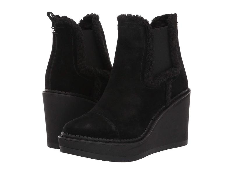 サムエデルマン レディース ブーツ・レインブーツ シューズ Reagan Black Velutto Suede Leather/Faux Fur