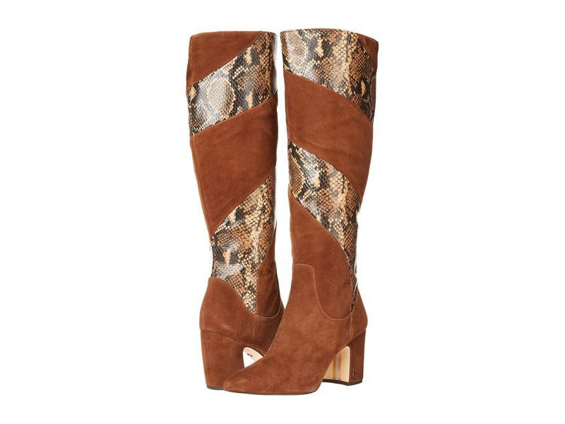 サムエデルマン レディース ブーツ・レインブーツ シューズ Hai 2 Toasted Coconut Lucca Suede Leather/Tropical Snake Print Leather
