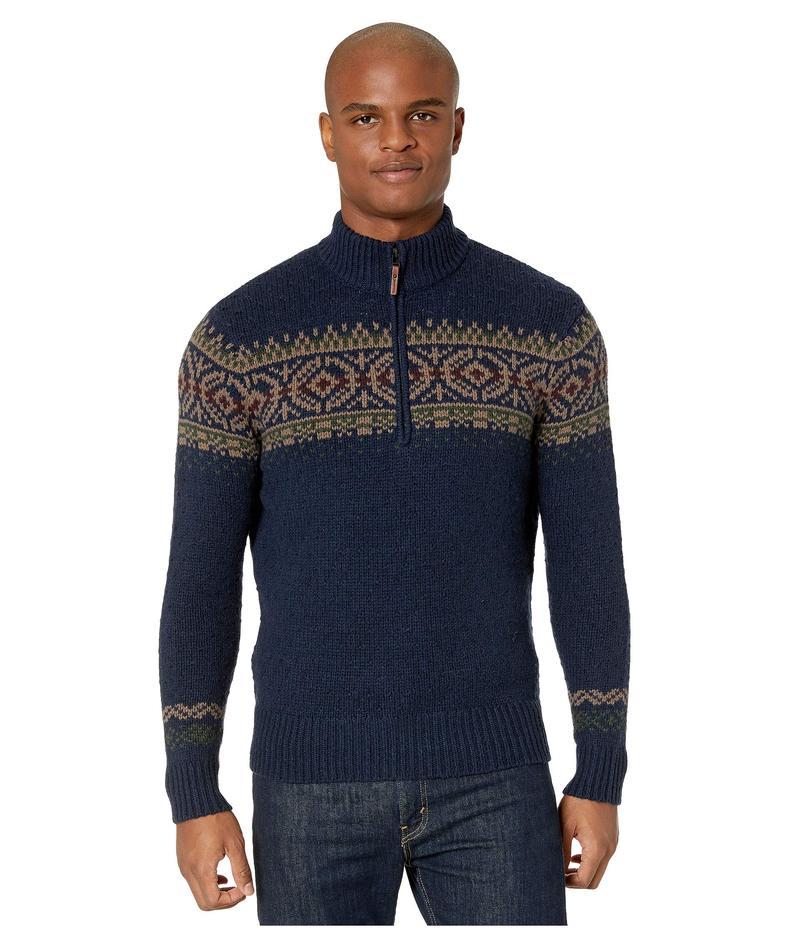 スマートウール メンズ ニット・セーター アウター CHUP Hansker 1/2 Zip Sweater Deep Navy Heather