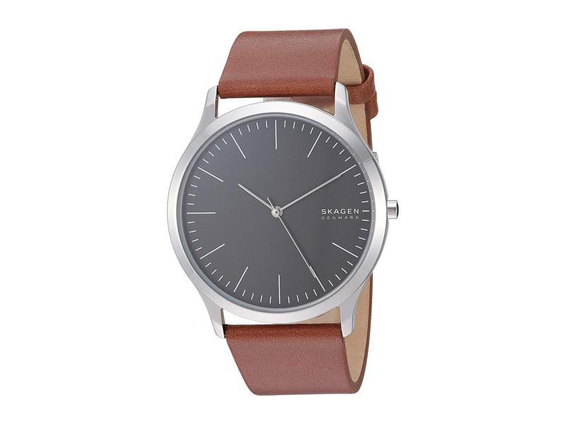 スカーゲン メンズ 腕時計 アクセサリー Jorn Three-Hand Watch SKW6552 Silver Brown Leather