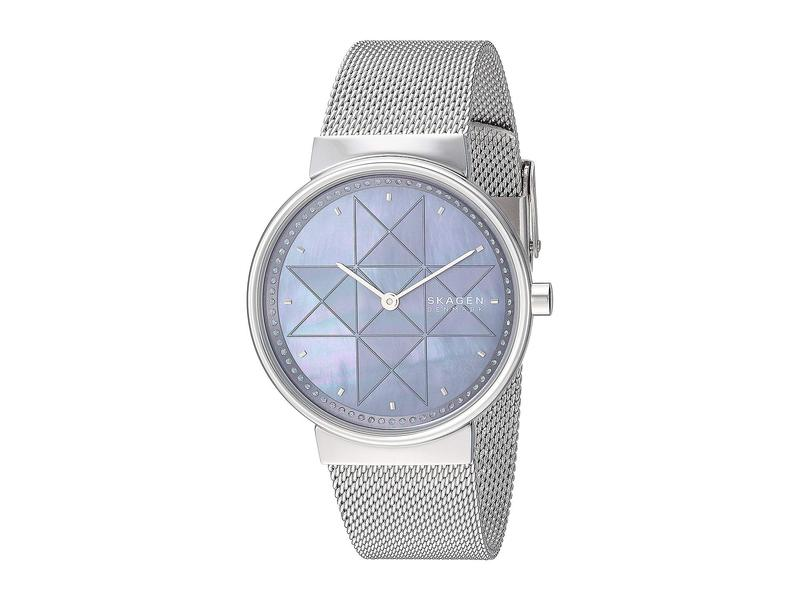 スカーゲン レディース 腕時計 アクセサリー Annelie Two-Hand Stainless Steel Mesh Watch SKW2833 Silver Stainless Steel Mesh