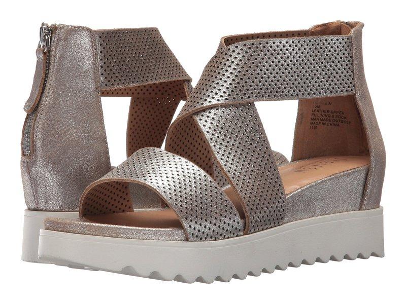 スティーブン ニューヨーク レディース ヒール シューズ NC-Klein Wedge Sandal Metallic Leather