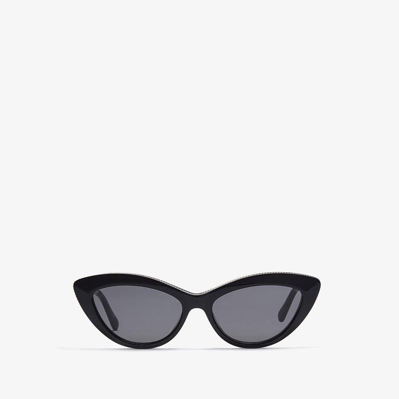 ステラマッカートニー レディース サングラス・アイウェア アクセサリー SC0187S Shiny Black/Gold/Solid Smoke