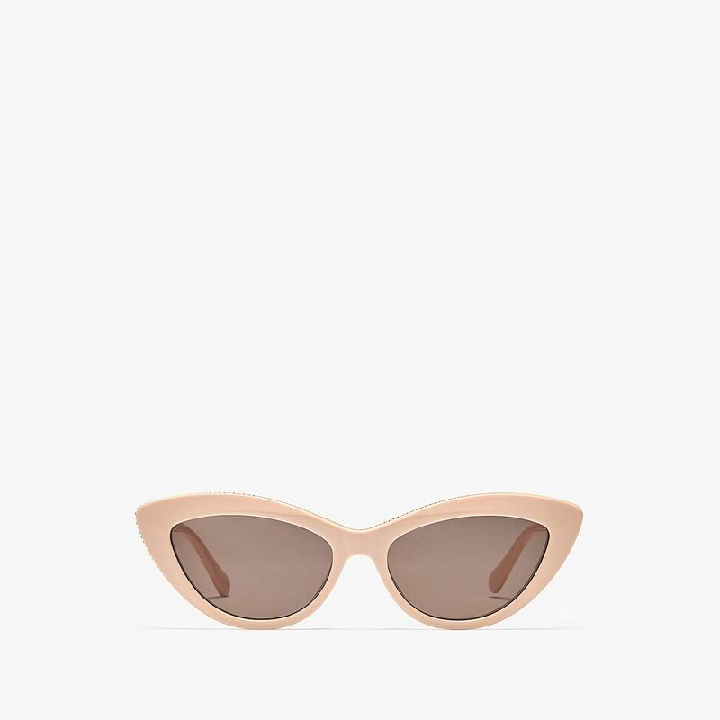 ステラマッカートニー レディース サングラス・アイウェア アクセサリー SC0187S Shiny Solid Pink/Rose Gold/Solid Brown