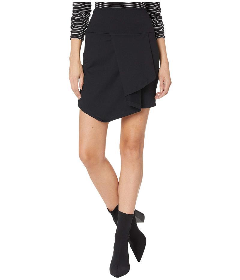 スサナモナコ レディース スカート ボトムス Folded Cascade Front Skirt Black