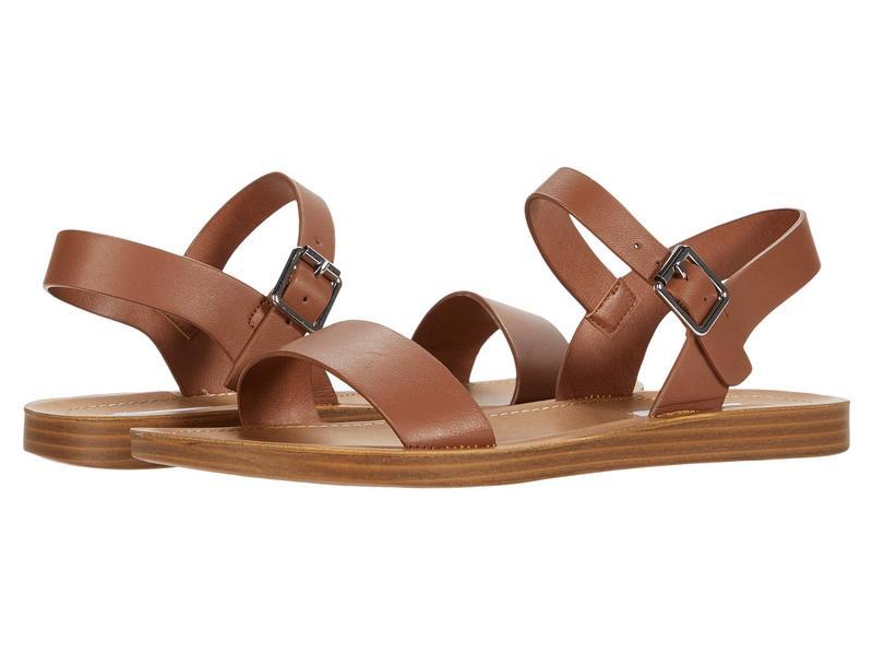スティーブ マデン レディース サンダル シューズ League Flat Sandal Cognac Leather