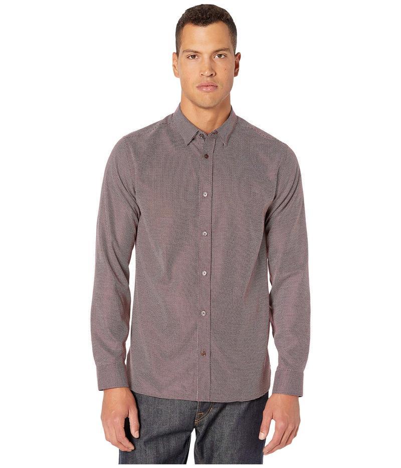 テッドベーカー メンズ シャツ トップス Velos Long Sleeve Textured Shirt Red