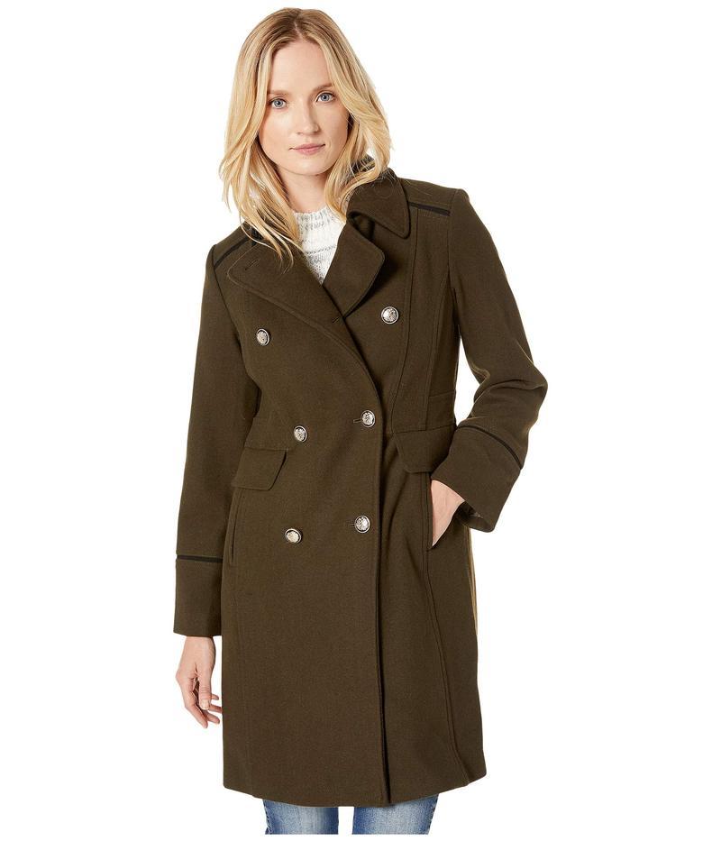 ヴィンスカムート レディース コート アウター Double Breasted Wool Coat V29768 Loden