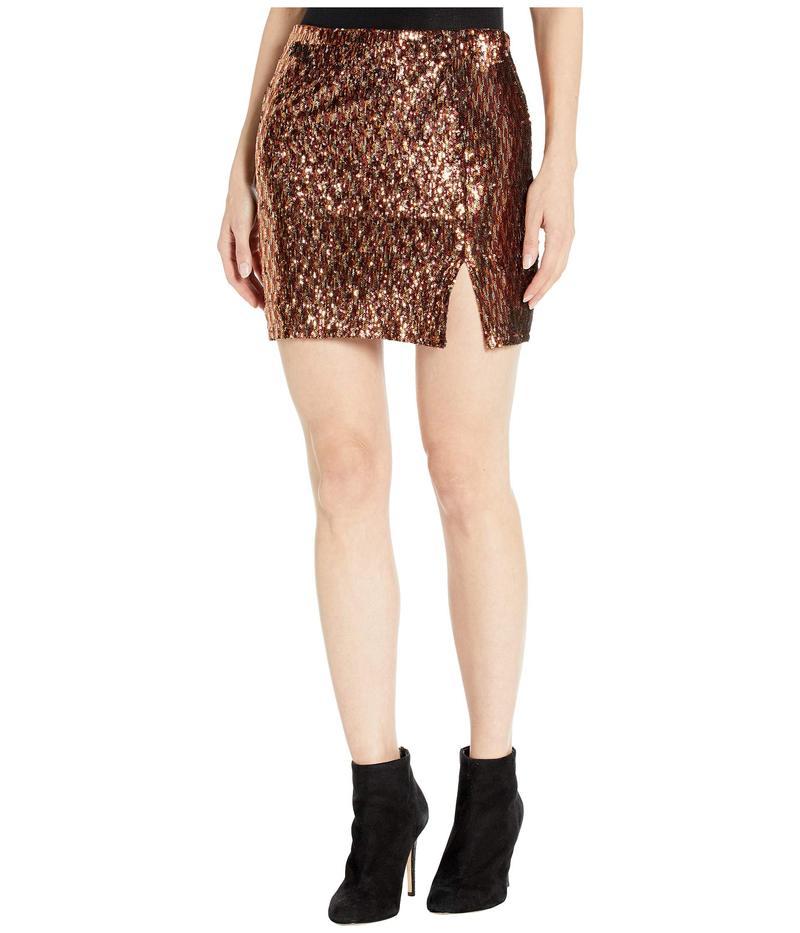 アストール レディース スカート ボトムス Tai Skirt Rust Gold Sequins