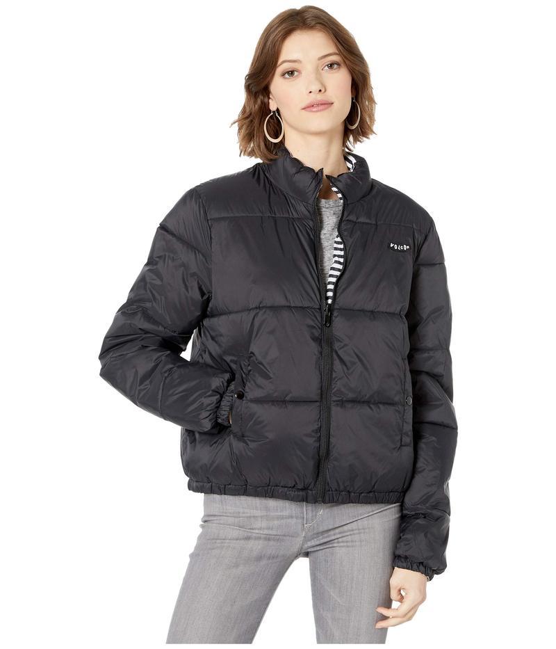 ボルコム レディース コート アウター Puffs N Stuff Reversible Jacket Black