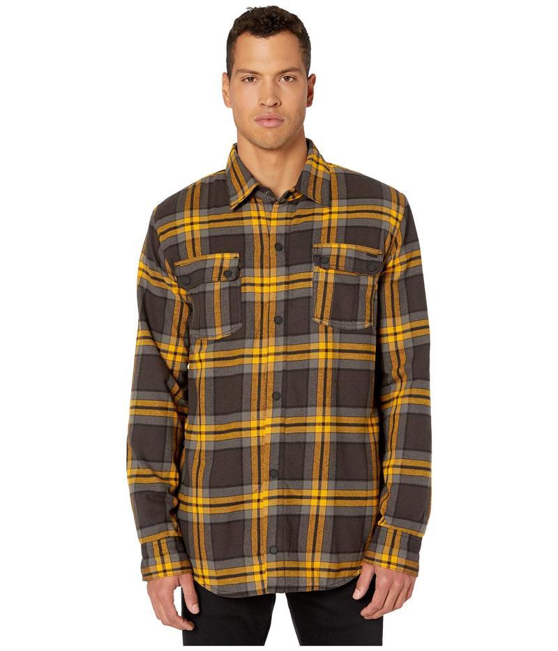ボルコム メンズ コート アウター Sherpa Flannel Jacket Vintage Black