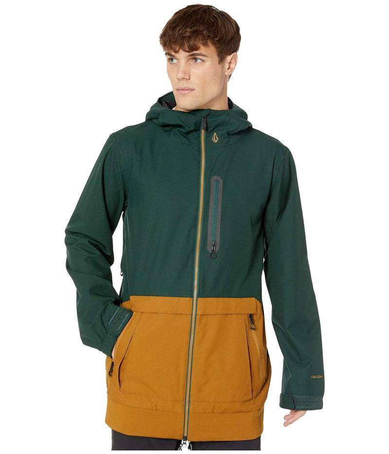 ボルコム メンズ コート アウター Deadly Stones Long Jacket Dark Green