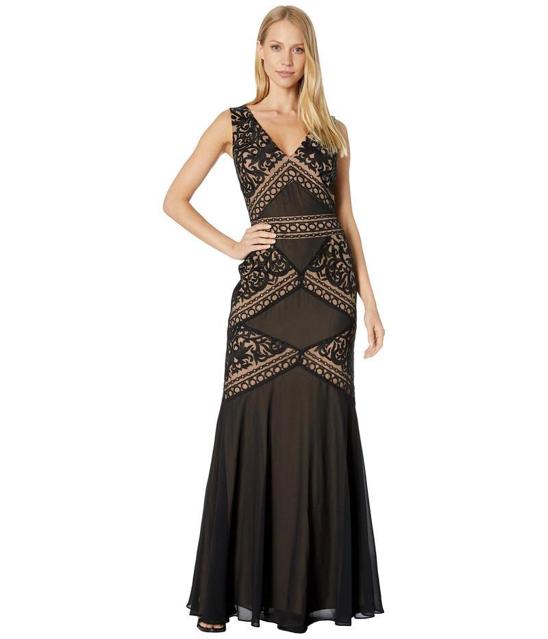 レディース ワンピース トップス Evening Embroidered ビーシービージーマックスアズリア Black Gown