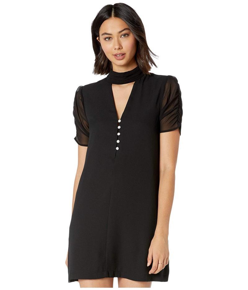 BCBジェネレーション レディース ワンピース トップス Ruched Sleeve A-Line Dress ZGP6226230 Black