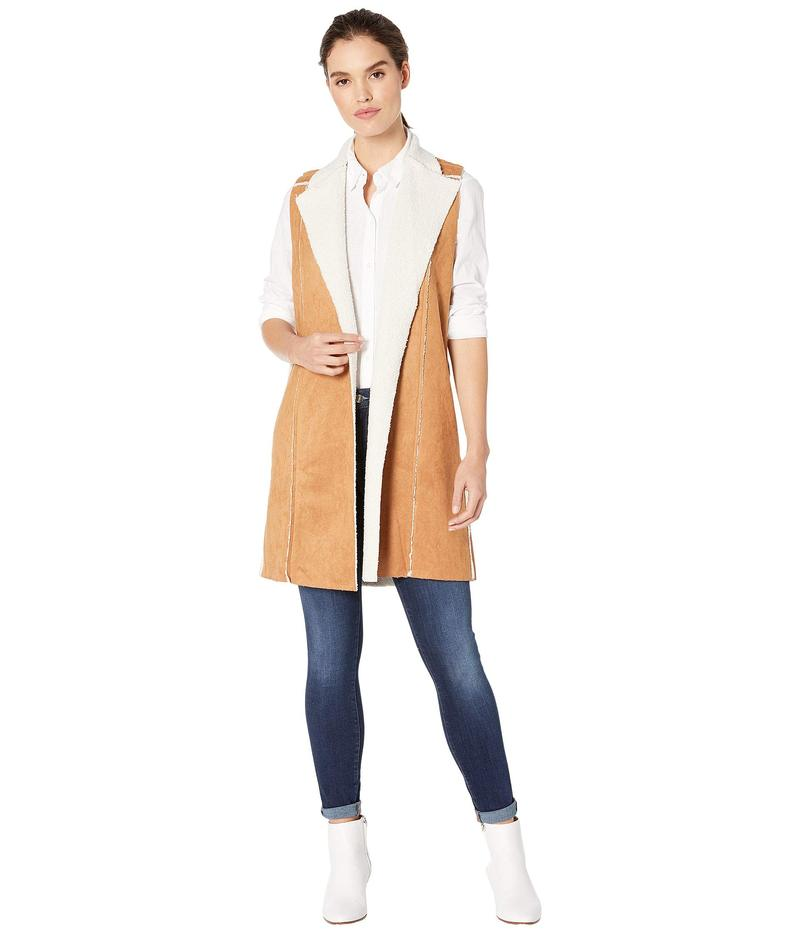 BCBジェネレーション レディース コート アウター Shearling Knit Long Vest TSA4196073 Camel