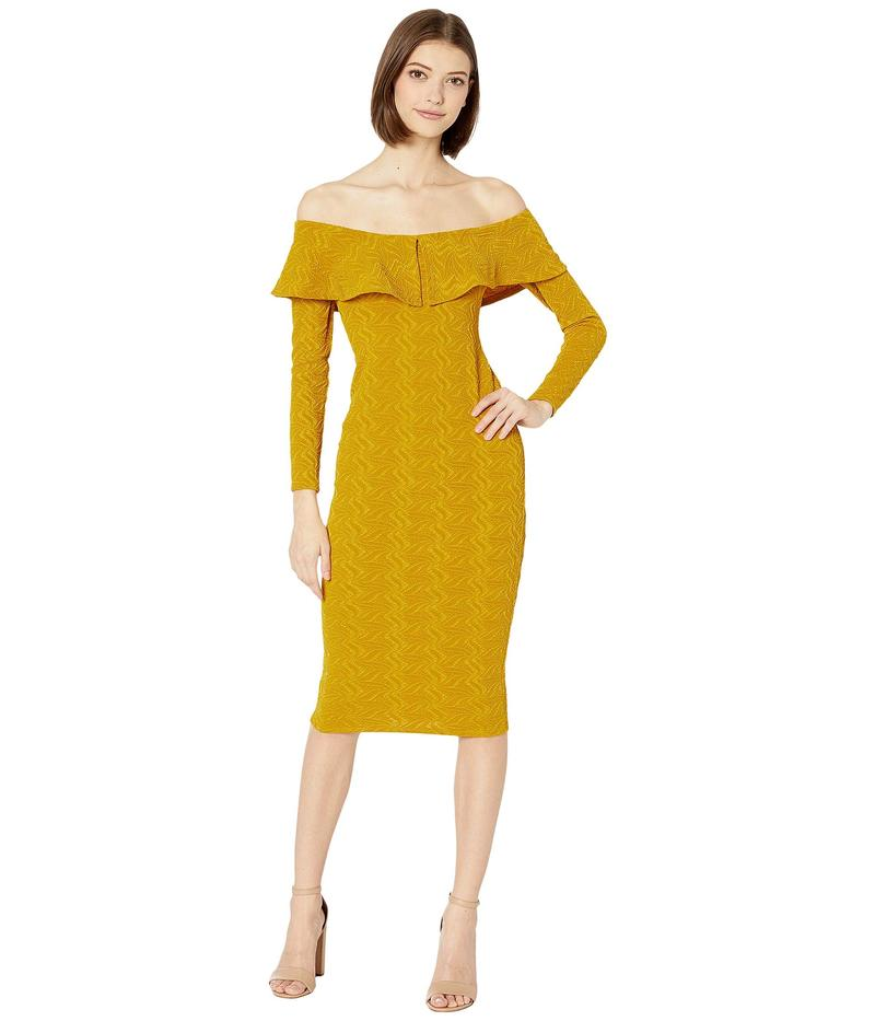 BCBジェネレーション レディース ワンピース トップス Off-the-Shoulder Bodycon Dress TRZ6269513 Sunflower