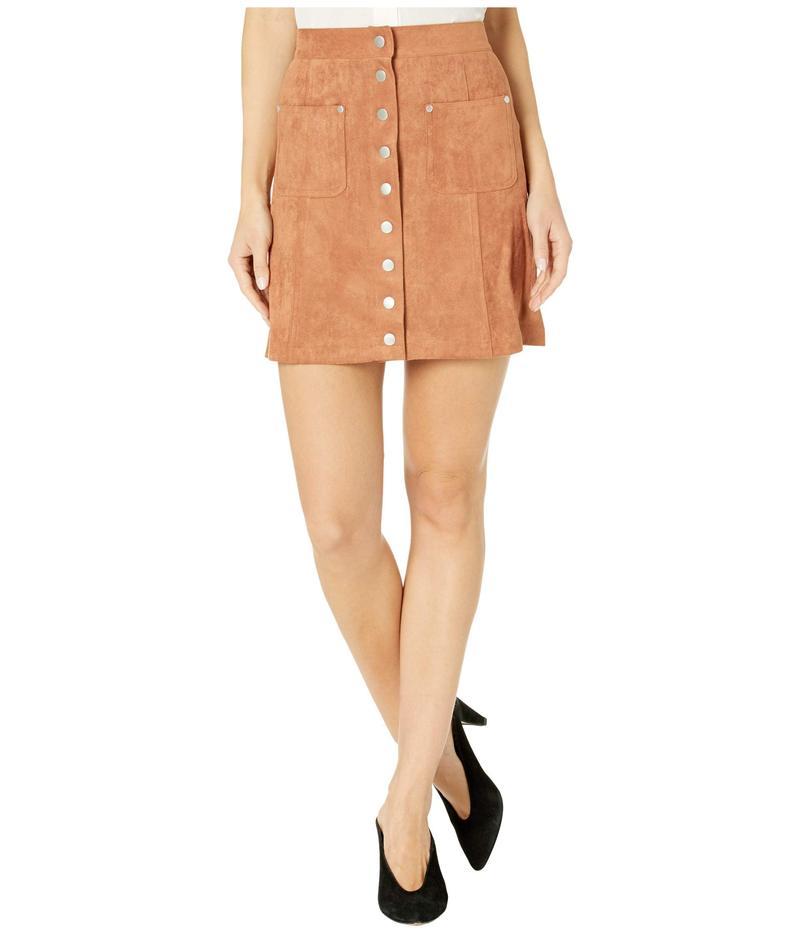 ビービーダコタ レディース スカート ボトムス That 70s Faux Suede Button Front Skirt Terracotta