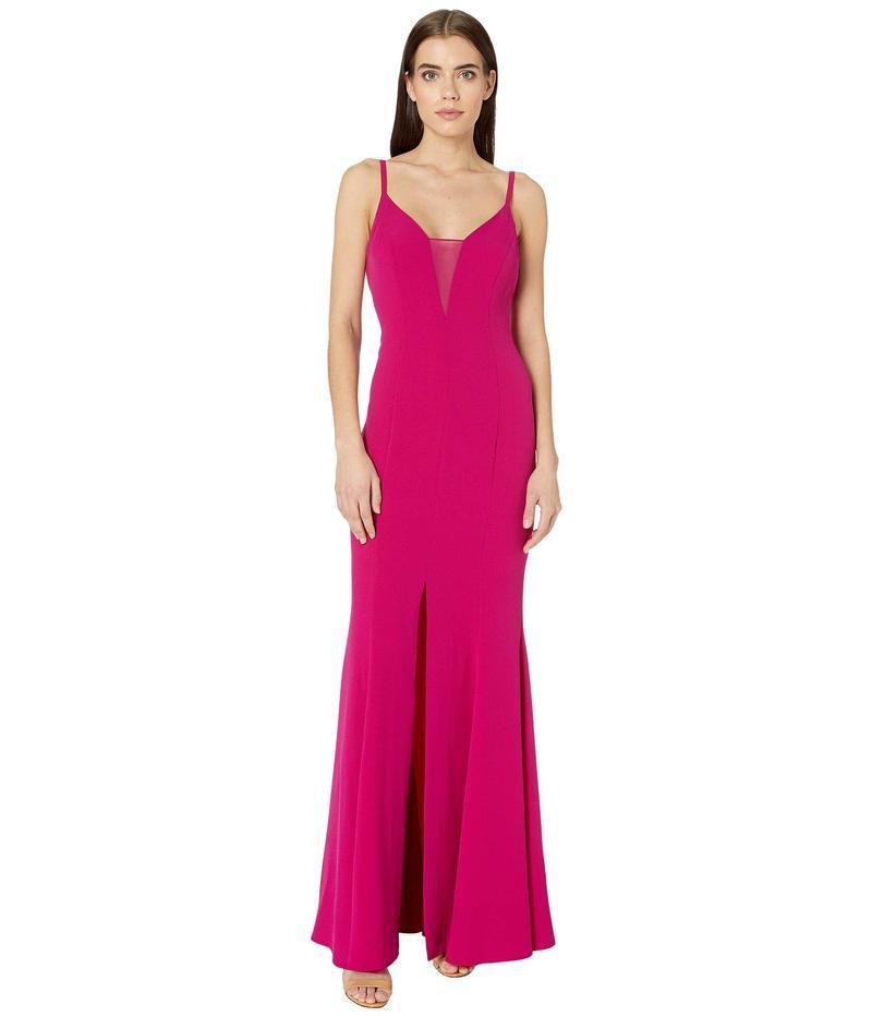 ビーシービージーマックスアズリア レディース ワンピース トップス Sheer Inset Gown Dress Vivia Fuchsia