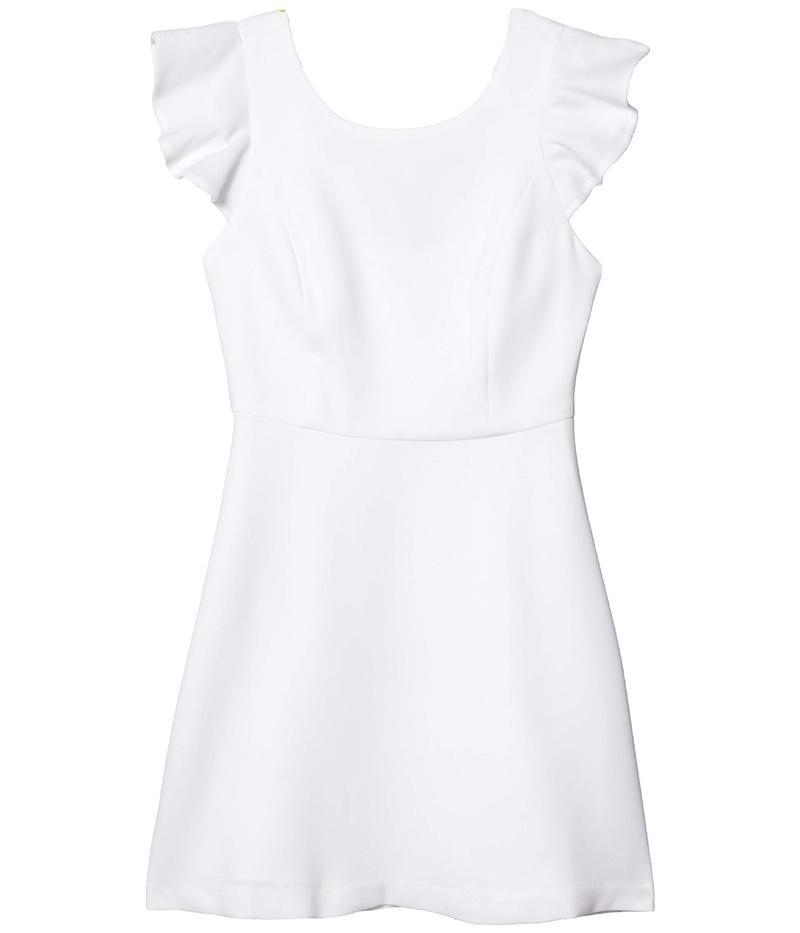 BCBジェネレーション レディース ワンピース トップス Cocktail Back Ruffle Woven Dress Optic White
